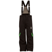 Spyder Force Kids Ski Pants, Black-Classic Green, medium