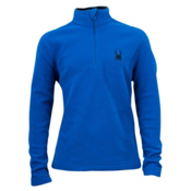 Spyder Speed Fleece T-Neck Kids Midlayer, Just Blue, medium