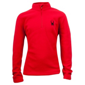 Spyder Speed Fleece T-Neck Kids Midlayer, Red, medium