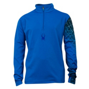 Spyder Linear Web Dry Web T-Neck Kids Midlayer, Collegiate-Just Blue, medium