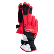 Spyder Traverse Gore-Tex Ski Kids Gloves, Red-Black, medium