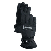Spyder Traverse Gore-Tex Ski Kids Gloves, Black-Black, medium