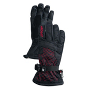 Spyder Over Web Kids Gloves, Black-Red, medium