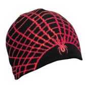 Spyder Web Kids Hat, Black-Red, medium