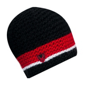 Spyder Bug Band Hand Knit Kids Hat, Black-Red-White, medium