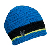 Spyder Bug Band Hand Knit Kids Hat, Collegiate-Black-Sharp Lime, medium