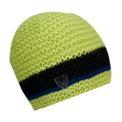 Spyder Bug Band Hand Knit Kids Hat, Sharp Lime-Black-Just Blue, medium