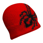 Spyder Creeper Hand Knit Kids Hat, Red-Black, medium