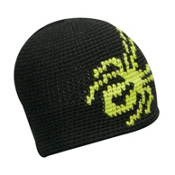 Spyder Creeper Hand Knit Kids Hat, Peat-Sharp Lime, medium