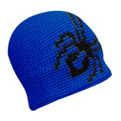 Spyder Creeper Hand Knit Kids Hat, Just Blue-Black, medium