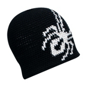 Spyder Creeper Hand Knit Kids Hat, Black-White, medium