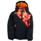 Spyder Mini Armageddon Toddler Ski Jacket, Black-Squeeze Inferno Print, medium