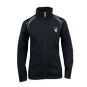 Spyder Core Virtue Full Zip Girls Sweater, Black-Silver, medium