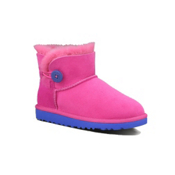UGG Australia Mini Bailey Button Girls Boots, Fuschia, medium