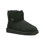UGG Australia Mini Bailey Button Girls Boots, Black, medium