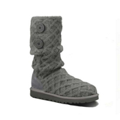 UGG Australia Lattice Cardy Girls Boots, Charcoal, medium