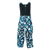 Spyder Mini Throw Bib Toddlers Ski Pants, Coast Live Print, medium