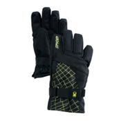 Spyder Mini Over Web Toddlers Gloves, Black-Sharp Lime, medium