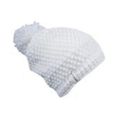 Spyder Brrr Berry Hand Knit Womens Hat, White, medium