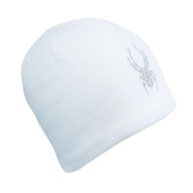 Spyder Rhinestone Kids Hat, White, medium
