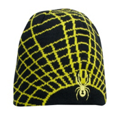 Spyder Mini Web Toddlers Hat, Black-Sharp Lime, medium