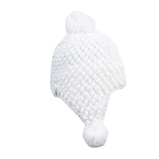 Spyder Bitsy Brrr Berry Hand Knit Toddlers Hat, White, medium