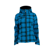 Spyder ARC Novelty Hoody Womens Soft Shell Ski Jacket, Coast Plaid, medium