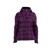 Spyder ARC Novelty Hoody Womens Soft Shell Ski Jacket, Gypsy Plaid, medium