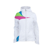 Spyder ARC Hoody Womens Soft Shell Ski Jacket, White-Sassy Pink-Coast, medium