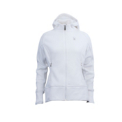 Spyder Core Ardent Full Zip Womens Hoodie, White-White, medium