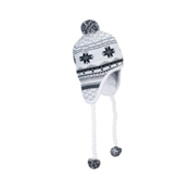 Spyder Superflake Womens Hat, White-Black-Silver, medium