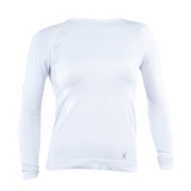 Spyder Silver X-Static L/S Womens Long Underwear Top, White-White, medium