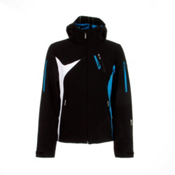 Spyder Artemis Womens Insulated Ski Jacket, Black-Coast-White, medium