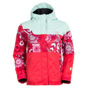 Orage Meisa Girls Ski Jacket, Light Blue-Orchid, medium