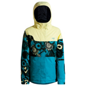 Orage Meisa Girls Ski Jacket, Light Yellow-Teal, medium