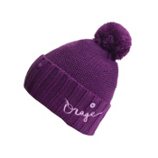 Orage Big Top Beanie Kids Hat, Grape, medium