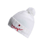 Orage Big Top Beanie Kids Hat, White, medium
