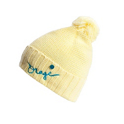 Orage Big Top Beanie Kids Hat, Light Yellow, medium