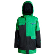 Orage Xav Boys Ski Jacket, True Green-Black-Winter Blue, medium