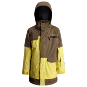 Orage Xav Boys Ski Jacket, Lemon-Khaki-Black, medium