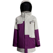 Orage Xav Boys Ski Jacket, Dark Purple-Light Grey-Khaki, medium