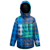 Orage Code Boys Ski Jacket, True Green-Winter Blue, medium