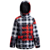 Orage Code Boys Ski Jacket, Plaid Mix Flame, medium