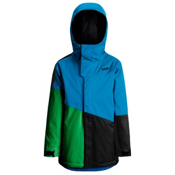 Orage Pack Boys Ski Jacket, Winter Blue-True Green-Black, medium