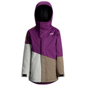 Orage Pack Boys Ski Jacket, Dark Purple-Light Grey-Khaki, medium