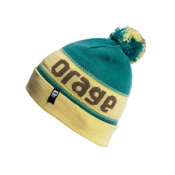 Orage Brown Beanie Kids Hat, Dark Green, medium