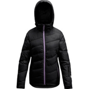 Orage Cascade Down Womens Insulated Ski Jacket, Black, medium