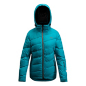 Orage Cascade Down Womens Insulated Ski Jacket, Teal, medium