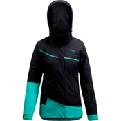 Orage Leila Womens Insulated Ski Jacket, Black-Turquoise, medium