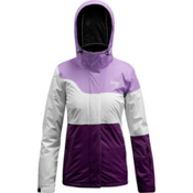 Orage Moraine Womens Insulated Ski Jacket, White-Dark Purple-Light Purple, medium